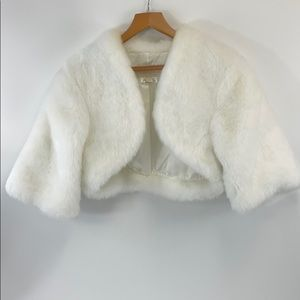 FAUX FUR WHITE jacket